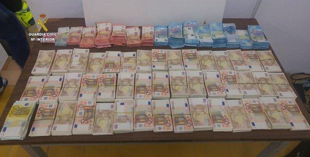 Dinero intervenido en Tarragona
