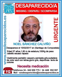 Desaparecido en Santiago de Compostela