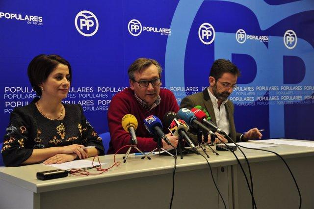Rueda de prensa del PP Teruel