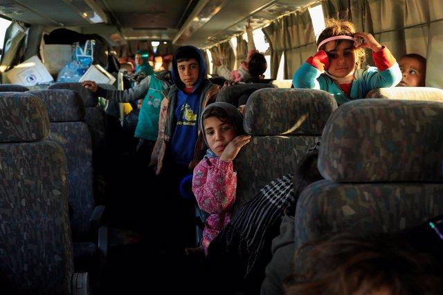 Civiles dl oeste de Mosul