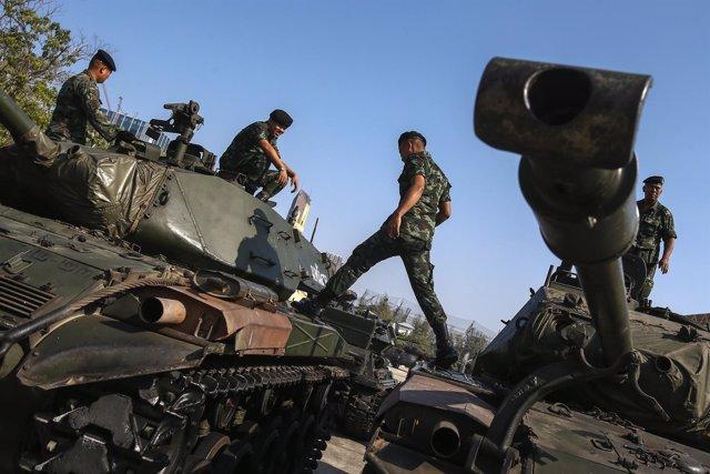 Soldados, Ejército en Tailandia