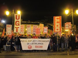"""UGT y CCOO dicen """"basta al bloqueo de las negociaciones"""" y piden """"trabajo digno y crecimiento salarial"""""""