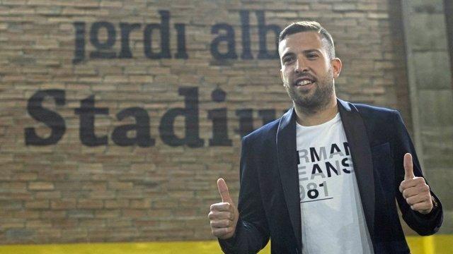 El jugador del FC Barcelona Jordi Alba
