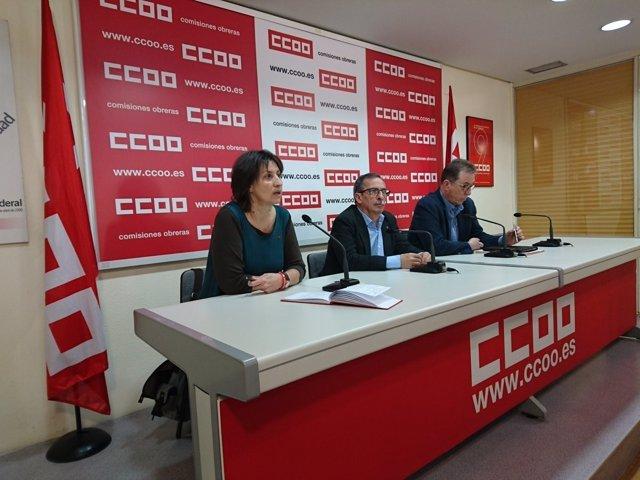 Rueda de prensa de CCOO