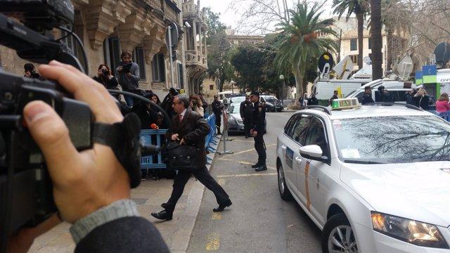 Diego Torres llega a la Audiencia de Palma