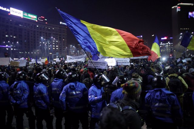 Manifestación en Bucarest contra el Gobierno