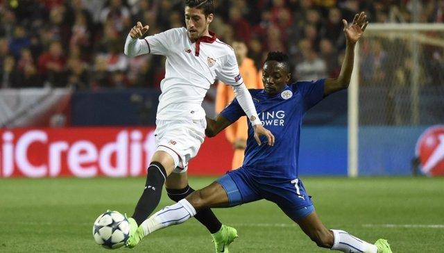 Escudero en el Sevilla - Leicester