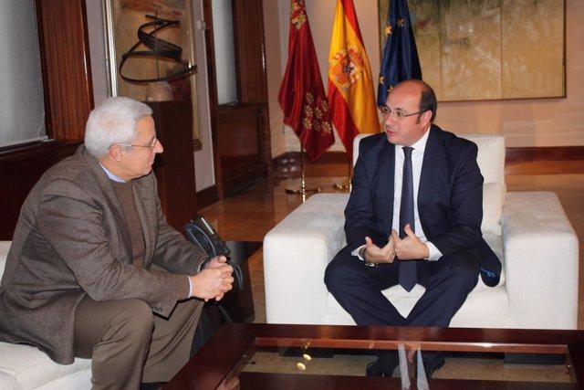 Foto/ El Presidente De La Comunidad, Pedro Antonio Sánch Ez, Se Reunió Hoy Con E
