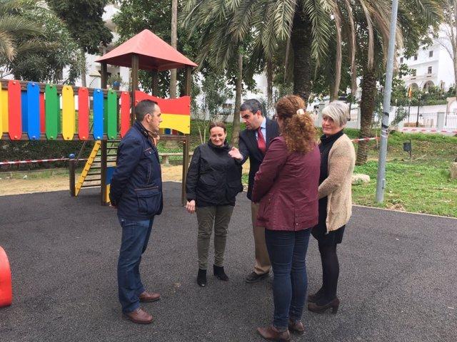Visita a obras del Plan Invierte de Diputación de Cádiz en Vejer