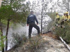 Efectivos del Infomur evitan un incendio forestal en la umbría de la Sierra del Puerto de Calasparra