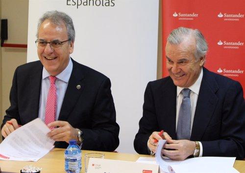 Crue Universidades Españolas renueva su convenio con Banco Santander