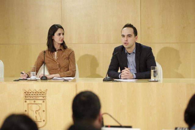 Rita Maestre y José Manuel Calvo