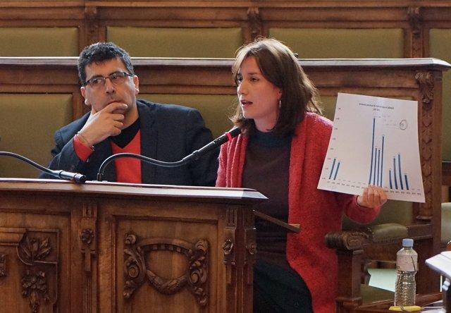 Valladolid. La concejal María Sánchez, en el Pleno extraordinario