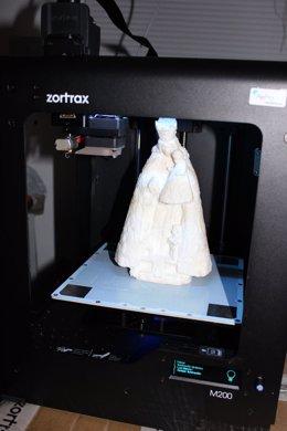 Logran imágenes de la Virgen de los Desamparados con moldes en 3D