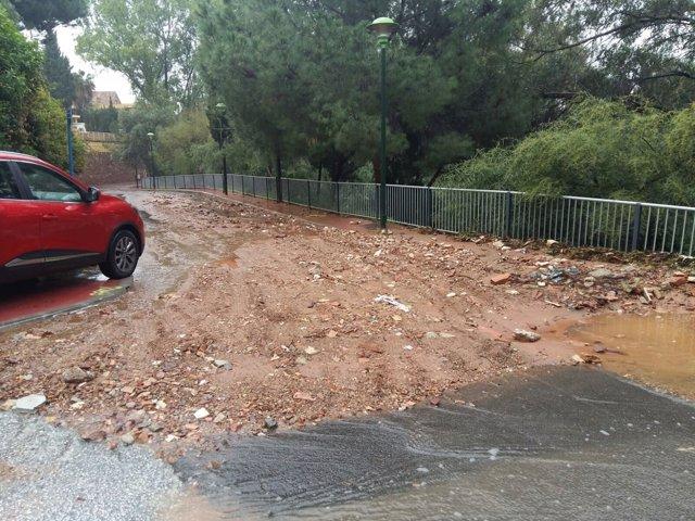 Tormenta inundaciones carretera Málaga