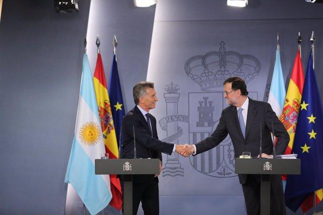 Rajoy recibe a Mauricio Macri en La Moncloa