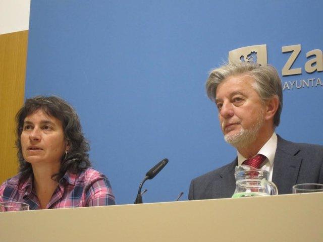 Luisa Broto y Pedro Santisteve