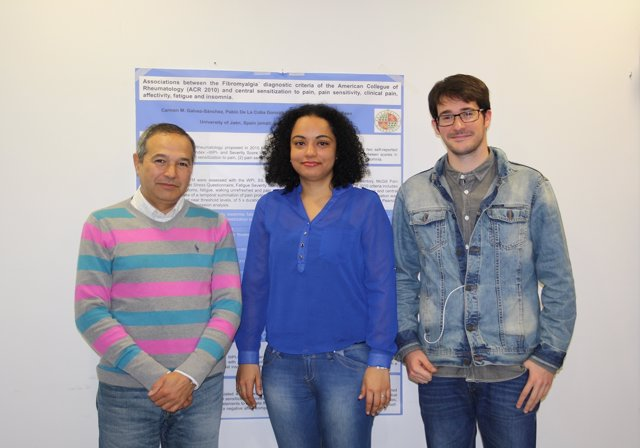 Los investigadores de la UJA responsables del estudio sobre fibromialgia.