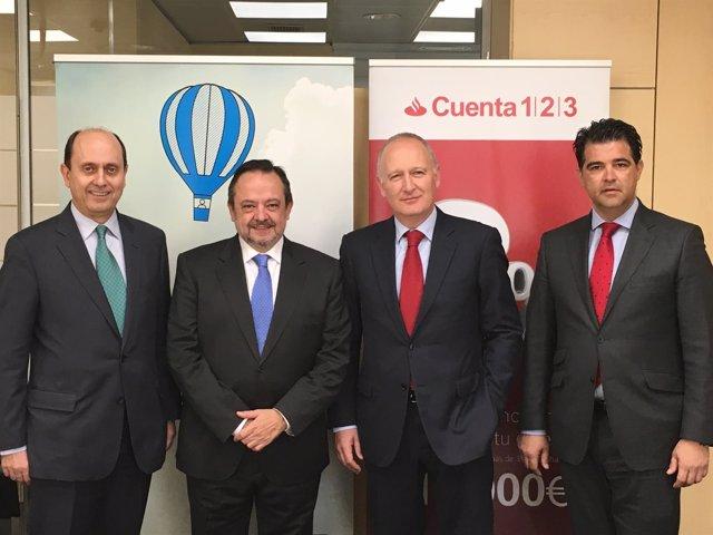 Josep Lores, Josep Ramon Sanromà, Luís Herrero Borque y Xavier Cañadó
