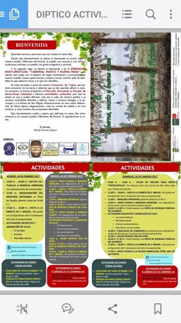 Programa de las jornadas de Villanueva del Ariscal.