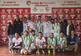 El Betis se impone al Sevilla en el '1er Derbi de las Redacciones' de LaLiga Santander