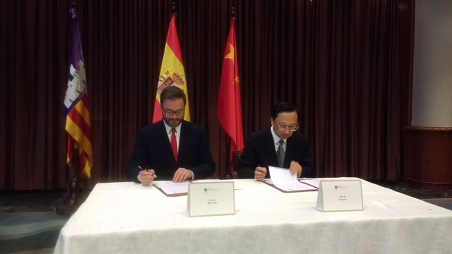 Firma de un convenio de cooperación entre Palma y Nanjing