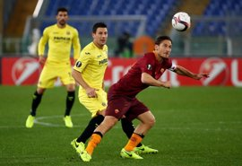 El Villarreal no encuentra los goles del milagro en Roma