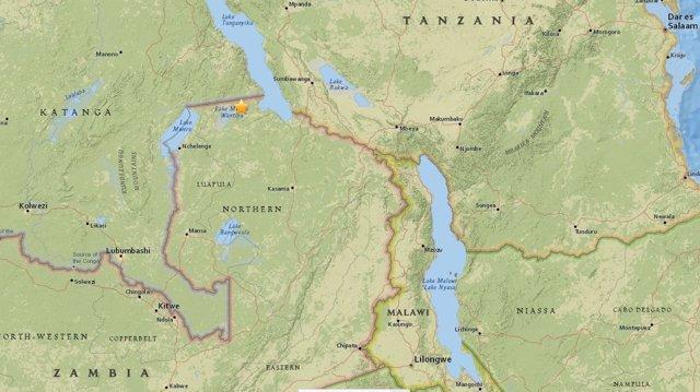 Terremoto de magnitud 5,7 en Zambia