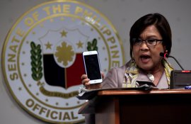 Detenida en Filipinas la senadora Leila de Lima, una de las más críticas con el Gobierno de Duterte