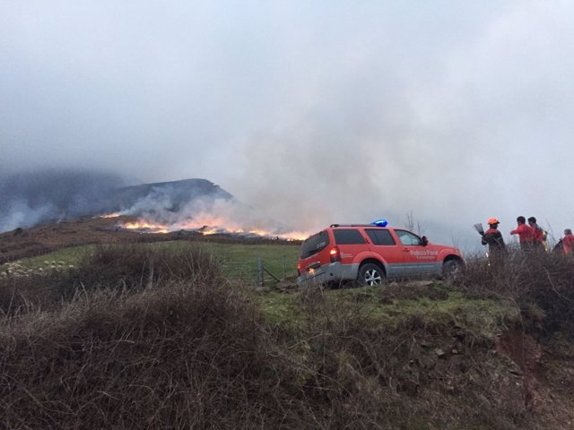 Imagen del incendio.
