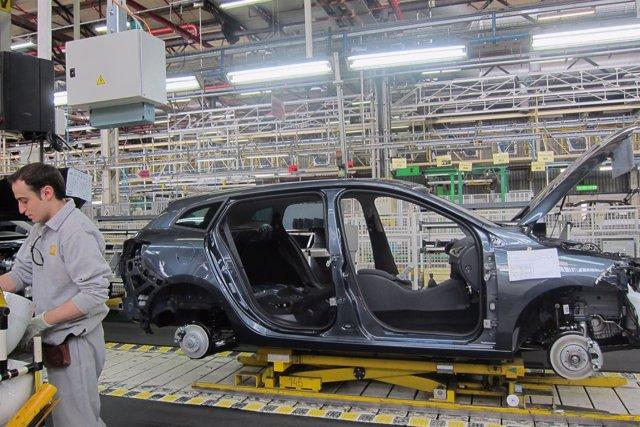 Cadena de montaje de una factoría de Renault