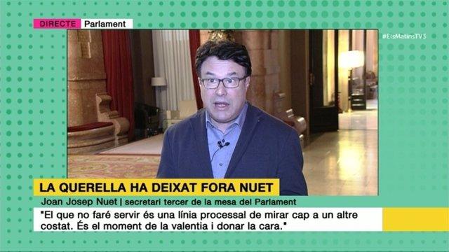 Joan Josep Nuet en TV3
