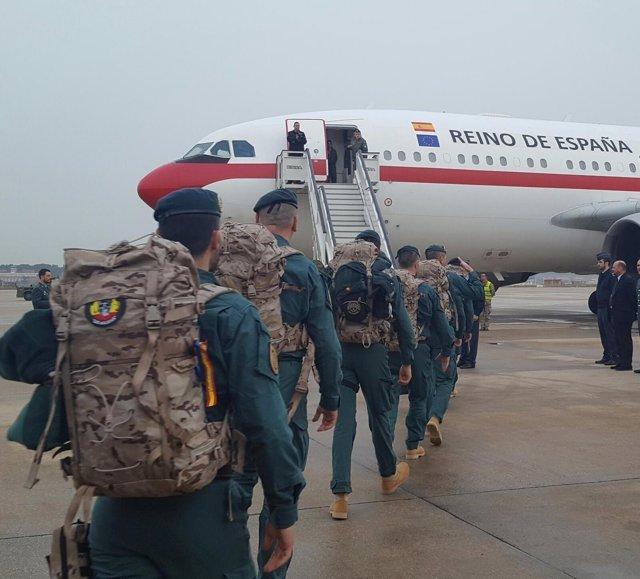 Contingente de 25 guardias civiles que parten a Irak el 24 de febrero de 2017