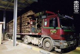 Inmovilizado un camión en Ribaforada por circular con 17 toneladas más de las autorizadas