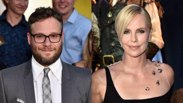 Charlize Theron y Seth Rogen