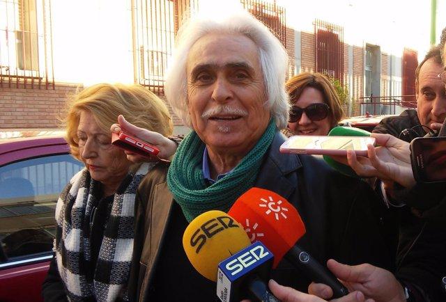 Rafael Gómez a la salida de juzgados
