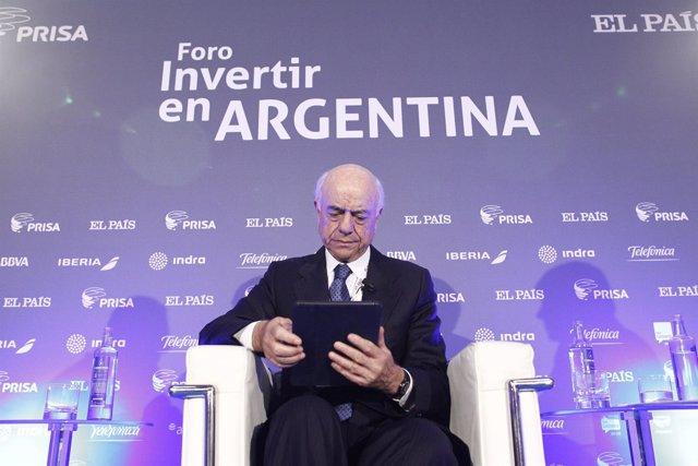 El presidente del BBVA, Francisco González, en el foto Invertir en Argentina