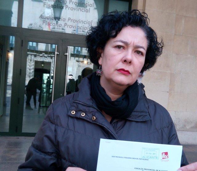 Raquel Pérez, con su denuncia ante Fiscalía Anticorrupción