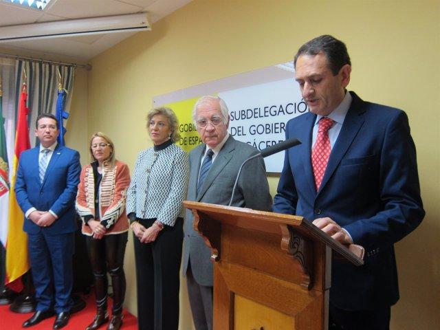 José Carlos Bote, toma posesión cmo Subdelegado del Gobierno en Cáceres