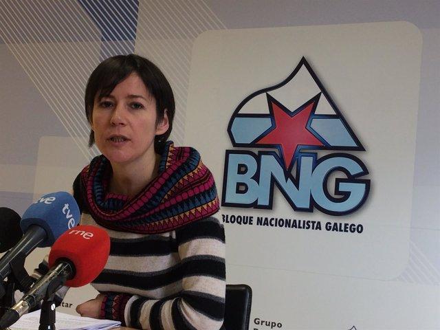 Ana Pontón, en rueda de prensa