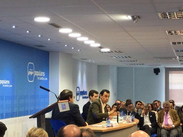 Valladolid. Martínez Maíllo se dirige a la Directiva Regional del PP CyL