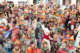 Más de 1.500 escolares de Bilbao en el desfile infantil de Carnaval