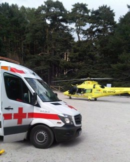 Accidente ciclista en Cercedilla+