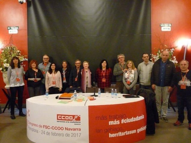 La Ejecutiva de la FSC de CCOO de Navarra.