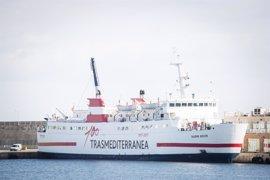 El buque 'Nura Nova' de Transmediterranea comienza este sábado a operar entre Alcúdia y Ciutadella
