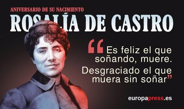 181 Años Del Nacimiento De Rosalía De Castro 10 Citas