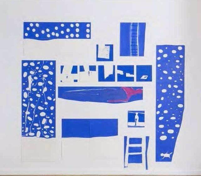Obra 'La mer bleu' de Anne-Marie Schneider