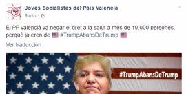 Joves Socialistes lanzan en redes sociales un montaje de Isabel Bonig en el cuerpo de Donald Trump