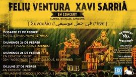 """Feliu Ventura y Xavi Sarriá llevan su música a Grecia para """"fortalecer lazos"""" con los refugiados realojados"""