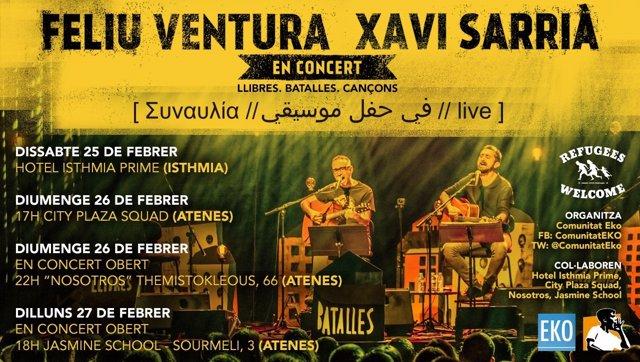 Actuaciones de Feliu Ventura y Xavi Sarrià